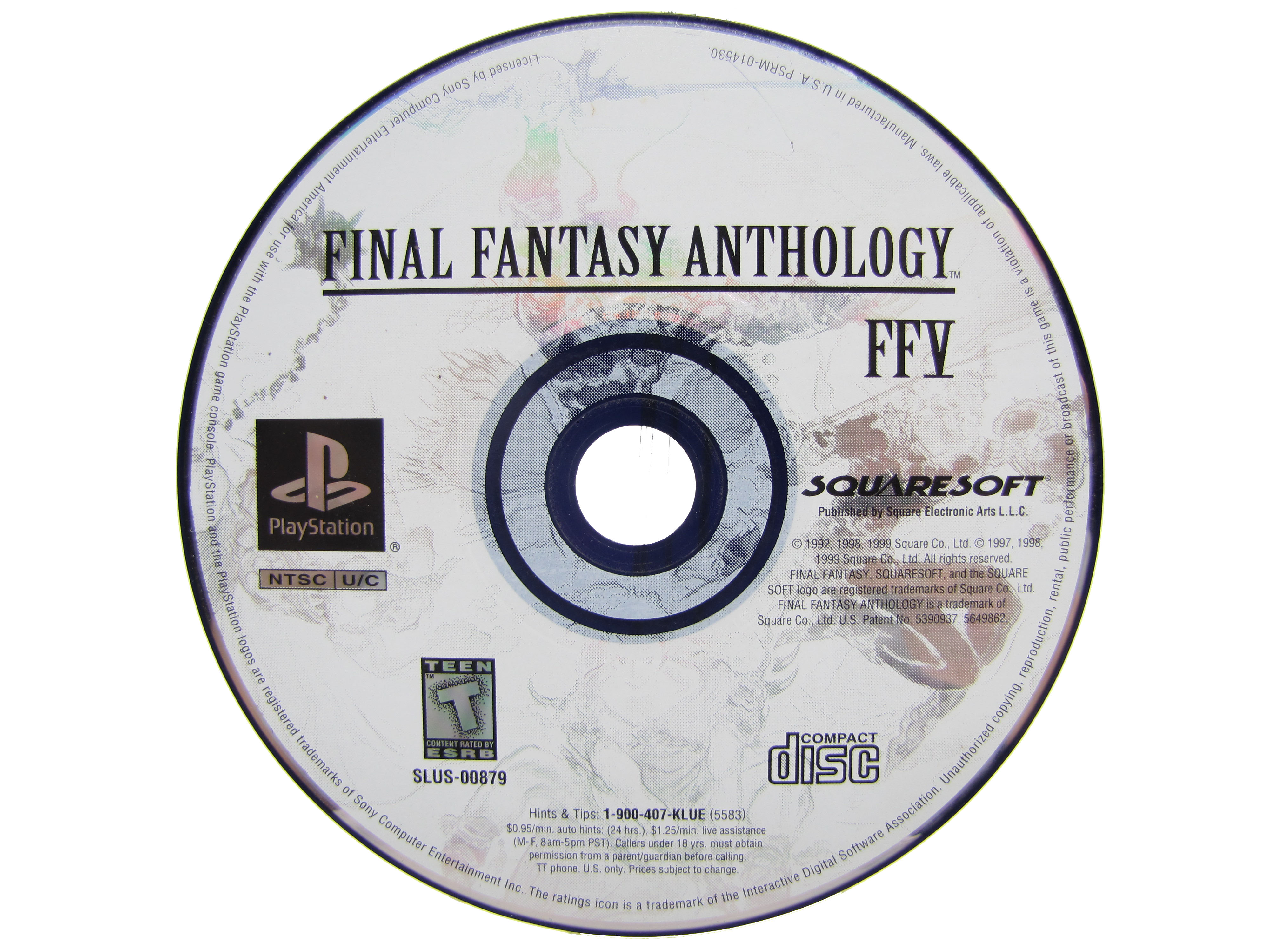 PS1 Final Fantasy Anthology FFV Disc Only - 1999